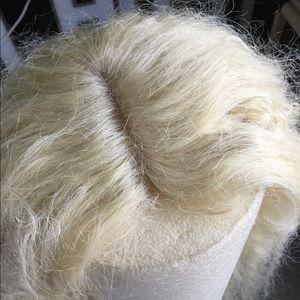Blonde hippie runway style wig